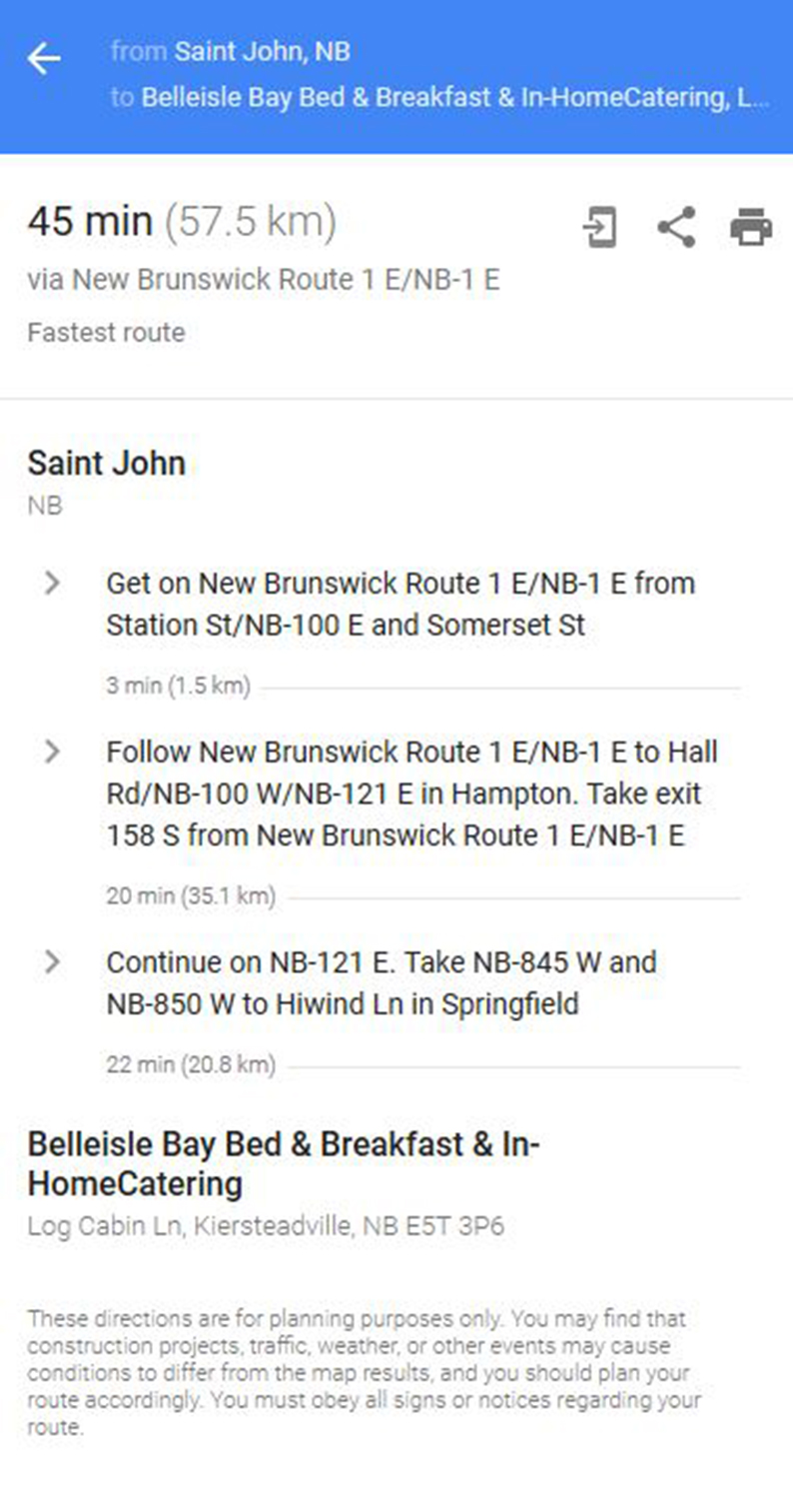 saint john to belleisle bay bed and breakfast